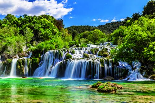 0013 sibenik region national park krka waterfalls